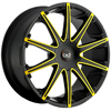 Blaque Diamond Dust - Yellow 24 Inch Wheels