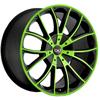Blaque Diamond Spyder Lime Green - 24 Inch Wheels