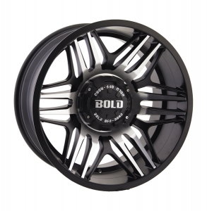 Bold BD003 20X10 Gloss Black Milled