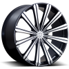Borghini B18 22X8 Black Machined with Aluminum Cap