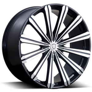 Borghini B18 28X10 Black Machined with Aluminum Cap