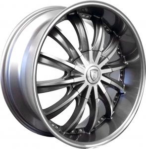 Borghini B19 20X8.5 Gun Metal Machined with Machined Lip & Alum Cap