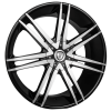 Borghini B20 22X8 Black Machined with Aluminum Cap