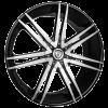 Borghini B20 26X10 Black Machined with Aluminum Cap
