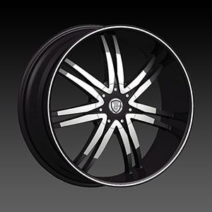 Borghini BW B14M 24 X 10 Inch Black Machined Wheel