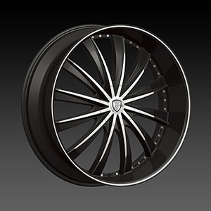 Borghini BW B19 24 X 9.5 Inch Black Machined Wheel
