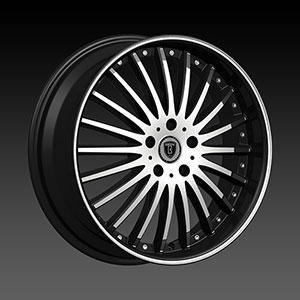 Borghini BW B23 Black Machined Wheel Packages