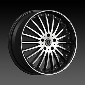 Borghini BW B23 17 X 7 Inch Black Machined Wheel
