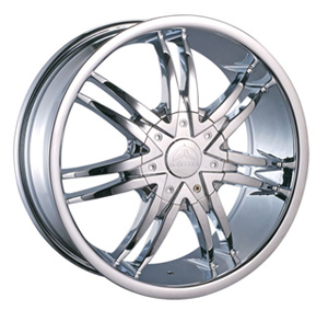 Borghini BW B14 26 X 10 Inch Chrome Wheel