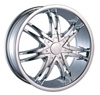 Borghini BW B14 24 X 10 Inch Chrome Wheel