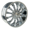 Borghini BW B15 24 X 8.5 Inch Chrome Wheel