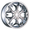 Borghini BW B3S 24 X 10 Inch Chrome Wheel