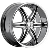 Cattivo 724 Chrome with Black Inserts 20 X 9 Inch Wheels