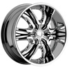 Cattivo 767 Chrome with Black Inserts 22 X 9.5 Inch Wheels