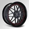 Cor Mako Matte Black with Gloss Black Lip 21 X 9.5 Inch Wheels