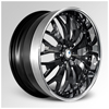 Cor Marrakech Black with Chrome Lip 24 X 10 Inch Wheels