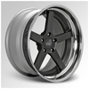 Cor Modell Black with Chrome Lip 22 X 9.5 Inch Wheels
