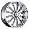 Strada Corona Chrome 28 X 10 Inch Wheels