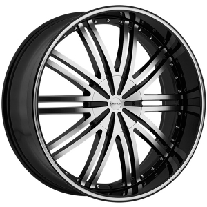 Cratus CR008 24X9.5 Gloss Black Machined