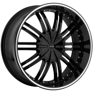 Cratus CR008 24X9.5 Gloss Black Machined Pinstripe