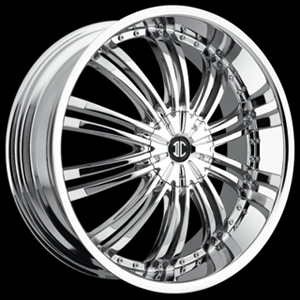 Crave Number 1 Chrome 17 X 7  Inch Wheels