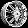 Crave Number 1 Chrome 20 X 8.5  Inch Wheels