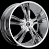 Crave Number 2 Chrome 22 X 9.5 Inch Wheels