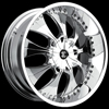 Crave Number 3 Chrome 22 X 9.5 Inch Wheels