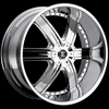 Crave Number 4 Chrome 24 X 10 Inch Wheels