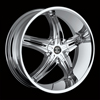 Crave Number 5 Chrome 22 X 8.5 Inch Wheels