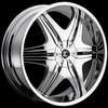 Crave Number 6 Chrome 22 X 8 Inch Wheels