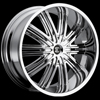 Crave Number 7 Chrome 24 X 10 Inch Wheels
