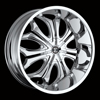 Crave Number 8 Chrome 22 X 9.5 Inch Wheels