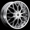 Crave Number 9 Chrome 22 X 8 Inch Wheels