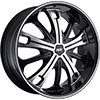 Avenue D1 Gloss Black Machined Face Black Lip Wheel Packages
