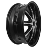 Dcenti DW 29 22X9.5 Black with Chrome Inserts