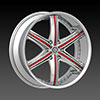 DCenti DW 708B Chrome 24 X 9.5 Inch Wheel