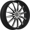 Dcenti DW 8 28X10 Black Machined with Machined Lip & Aluminum Cap