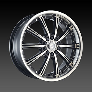 DCenti DW 906 Black Machined 20 X 8.5 Inch Wheel