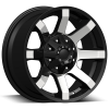 Dcenti DW 950 16X8 Black Machine
