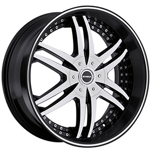 Strada Denaro Black Machined Face 24 X 9 Inch Wheels