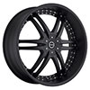Strada Denaro Stealth Black Face 24 X 9 Inch Wheels