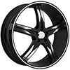Devino Flawless DV762 Gloss Black with Machined Face and Stripe Wheel Packages
