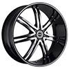 Strada Diablo Black Machined 20 X 8.5 Inch Wheels