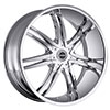 Strada Diablo Chrome 24 X 9 Inch Wheels