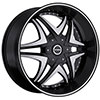 Strada Dolce Black with Machined Face 24 X 9.5 Inch Wheels