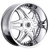 Strada Dolce Chrome 24 X 9.5 Inch Wheels