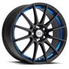 Drag Concepts R16 16X7 Black Machined Blue Inner