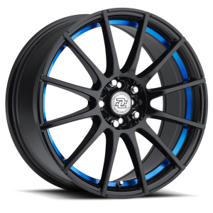 Drag Concepts R16 18X8 Black Machined Blue Inner