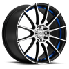 Drag Concepts R16 16X7 Gloss Black Blue Inner